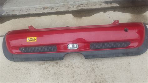 rear ended at a red light fs red rear bumper cover with fog light r53 06 north