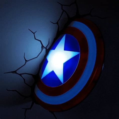 Superhero Wall Mural 3d deco superhero wall lights thinkgeek