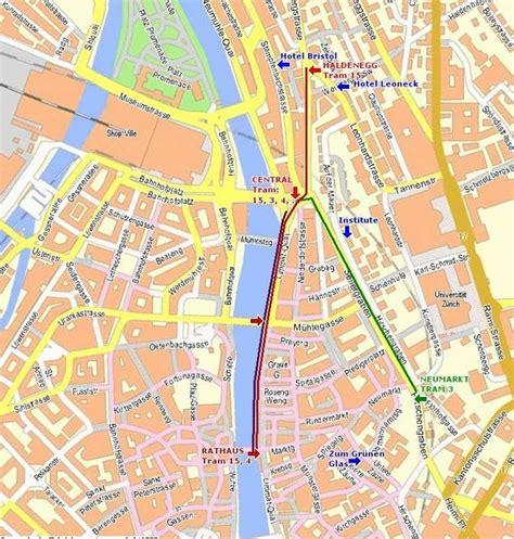 printable tourist map zurich zurich switzerland tourist map zurich mappery