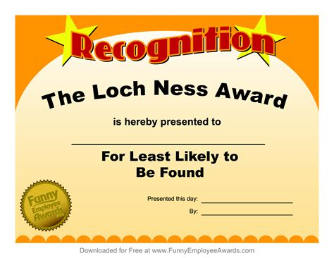free online templates for award certificates free printable funny awards certificates