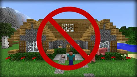best way to build a house minecraft 5 ways to hide your house from friends youtube