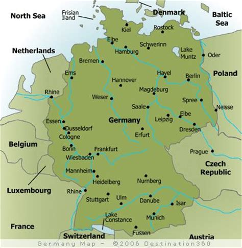 map of germany showing cities map of major cities in germany germany