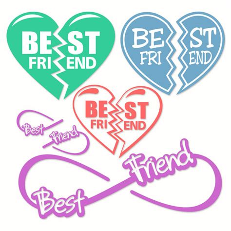 best friends svg cuttable designs