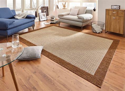 design teppich design teppich flachgewebe simple mit bord 252 re braun