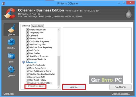 ccleaner getintopc how to use ccleaner to speed up computer and free disk