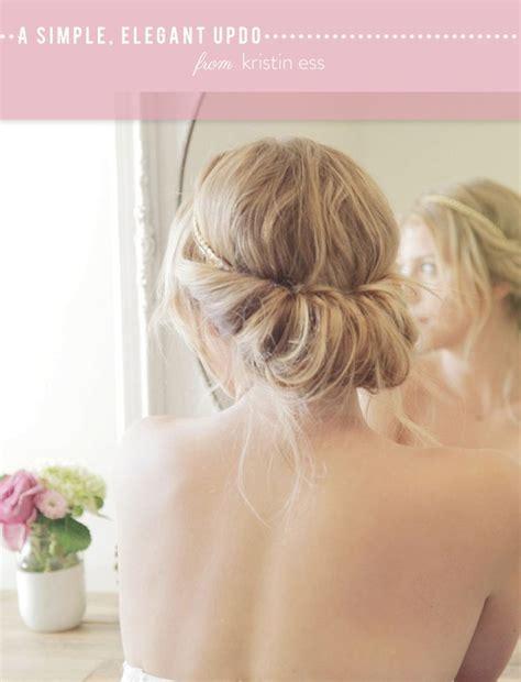elegant hairstyles diy diy simple elegant updo hair style my way pinterest