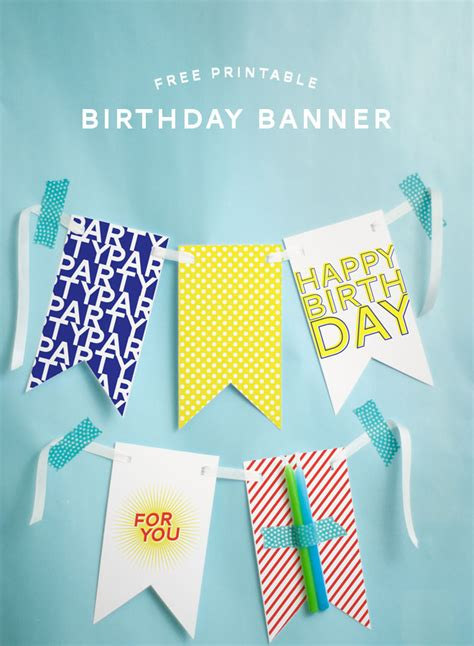 How To Make A Happy Birthday Banner Of Paper - free printable happy birthday banner pizzazzerie
