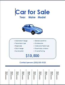 Free Templates For Flyer by Free Car For Sale Flyer Templates Free Flyers
