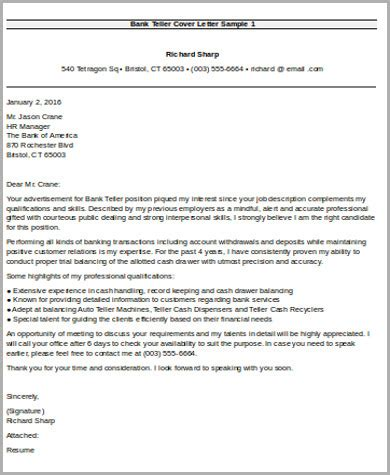 bank teller cover letter entry level sle bank teller cover letter 7 exles in word pdf