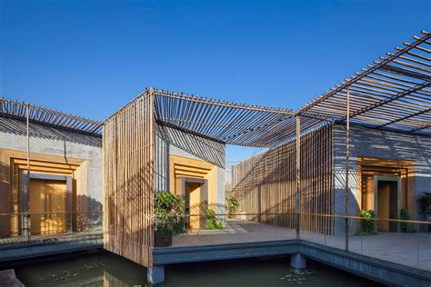 Bedroom Furniture Images by Terrace Floating Bamboo Courtyard Teahouse In Shiqiao China