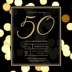 50th Birthday Invite Template by Golden 50th Birthday Invitation Templates By Canva