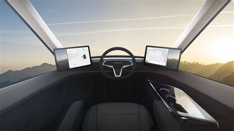 tesla electric pickup truck first tesla semi interior video shows the life of a 2020