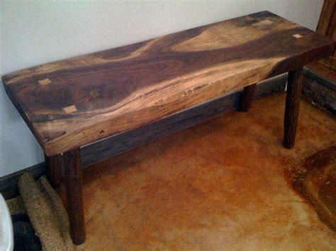 how to build a rustic bench rustic log bench plans woodideas