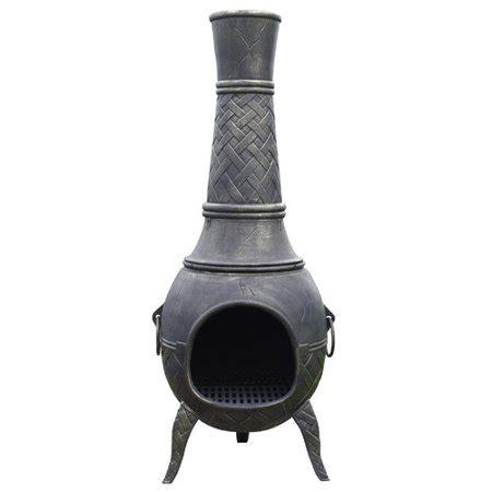 chiminea walmart la hacienda cast iron wood burning chiminea walmart