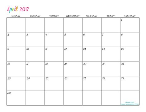 custom editable free printable 2017 calendars sarah titus