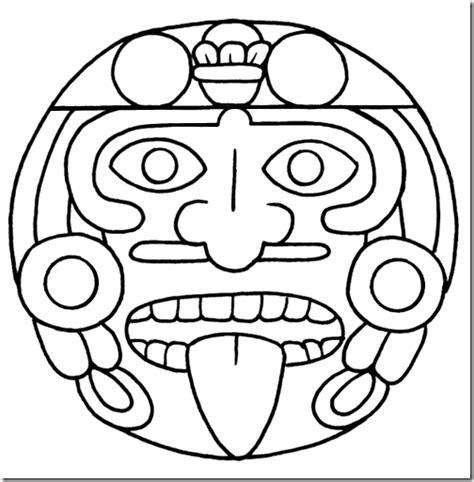 imagenes de caras mayas colorear aztecas y mayas colorear dibujos infantiles