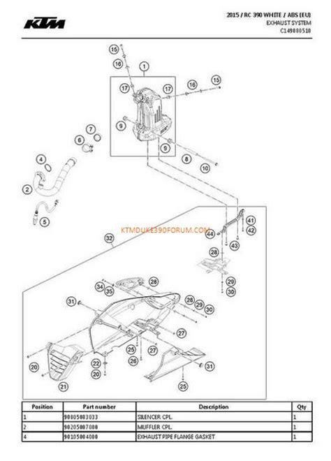 Ktm Parts List Ktm Rc390 Parts List And Diagram Ktm Duke 390 Forum