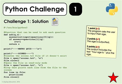 coding challenge python challenges for ks3 4 zigzag education