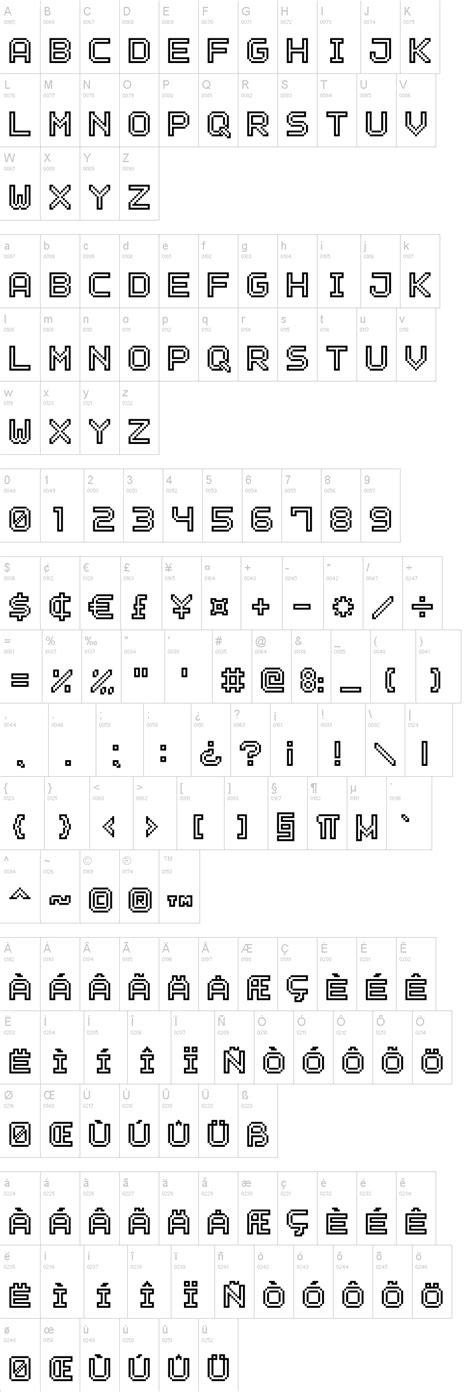 outline pixel  font dafontcom