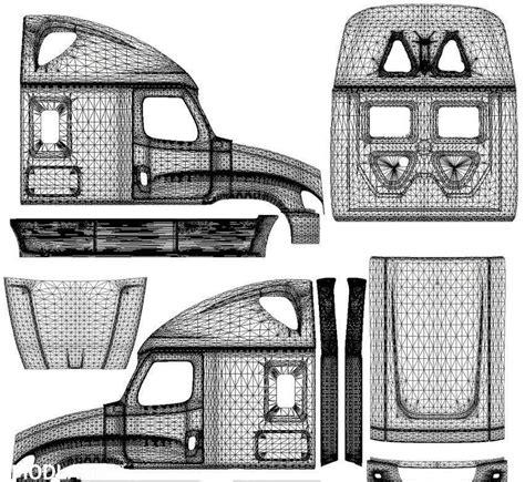 freightliner cascadia template  skins mod  american truck simulator ats