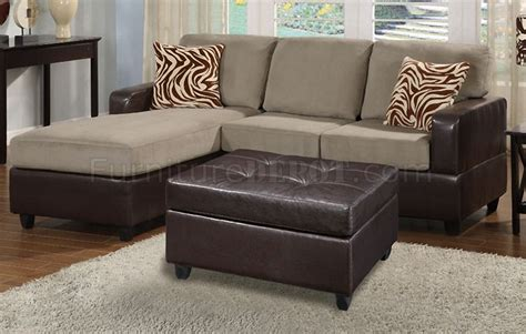 leather and microfiber sofa f7669 poundex pebble microfiber faux leather small sofa