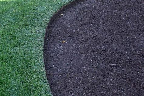 mulch bed edger edge around mulched area the cutting edge