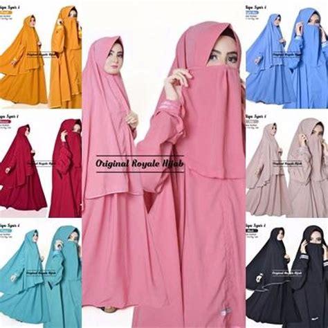 Supplier Baju Novitha Syari Hq jual terlaris jual baju muslim setelan cadar gamis syari polos cantik maliqa terbaru di lapak