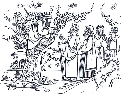 imagenes de jesus y zaqueo para colorear dibujo para pintar sobre zaqueo zaqueo pinterest