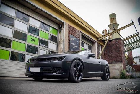 Auto Lackieren Dortmund by Check Matt Dortmund Chevrolet Camaro In Mattschwarz