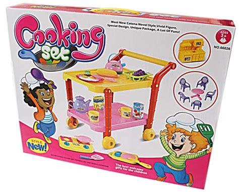 Mainan Masak Masakan Chrome Cooking jual mainan masak masakan 5 cooking trolley xavier shop