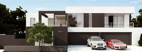 Luxurious Home Design With Monochromatic Style Roohome Luxury Home Plans With 4 Car Garage