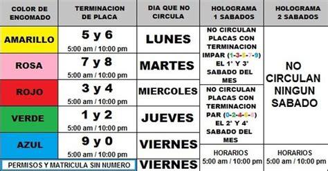 calendario hoy no circula hoy no circula today it does not circulate above is a