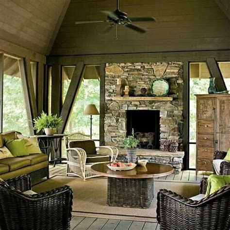 screened porch with fireplace the world s catalog of ideas
