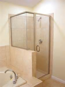 Showers on pinterest half wall shower half walls and glass showers