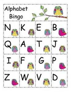 Alphabet bingo this a great way to reinforce letter recognition in a