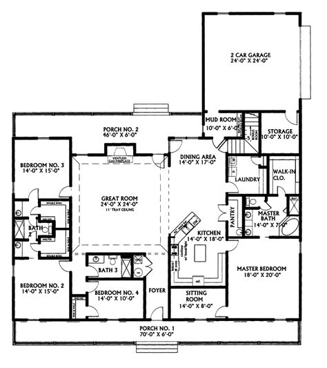ranch floor plans kinsey country home plan 028d 0022 house plans and more