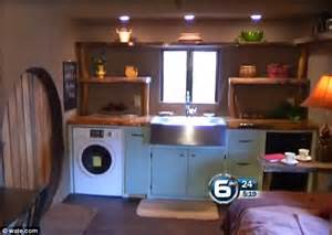 Farmer Kitchen Sink by Tennessee Carpenter Builds Tiny Hobbit Home Fit For Bilbo