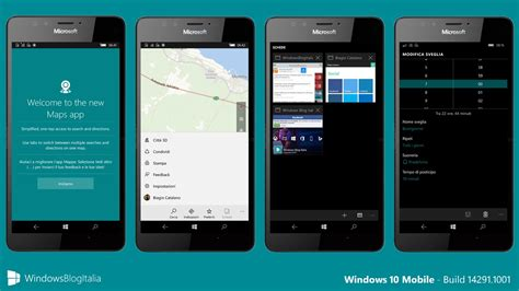 italiano mobile tour completo di windows 10 mobile build 14291