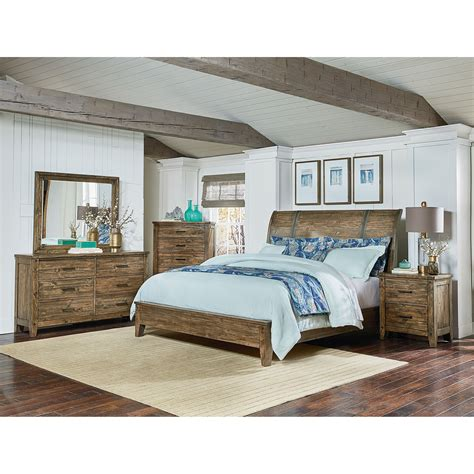 nelson grey queen sleigh bedroom set the furniture mart standard furniture nelson rustic queen sleigh bed great