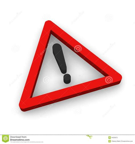 danger symbol stock illustration illustration  stop