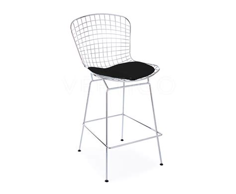 bertoia wire bar stool chrome wire bar stool inspired by designs of harry bertoia vertigo interiors