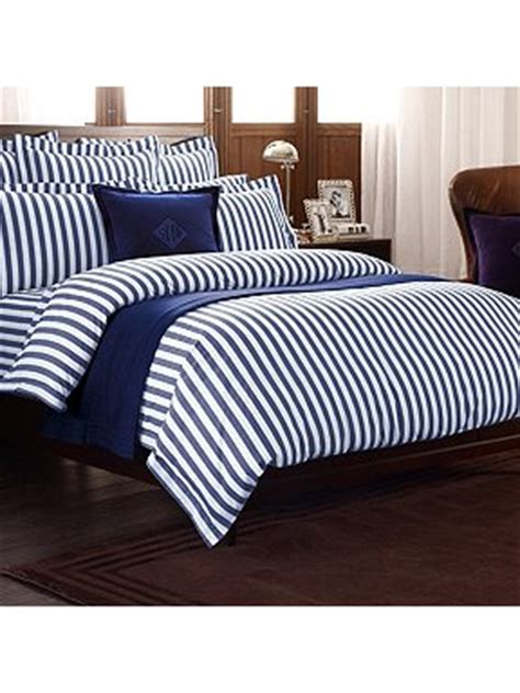 ralph lauren striped comforter ralph lauren home club stripe bedding range in navy