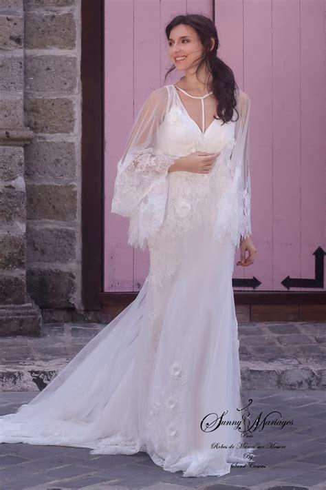 Robe Mariée Manche Longue Boheme - robe mari 233 e boheme dentelle