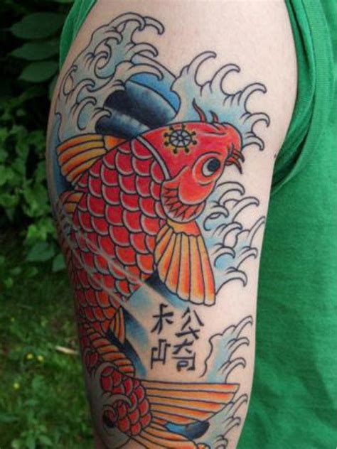 koi fish tattoo red and black red koi fish and hieroglyphs tattoo tattooimages biz