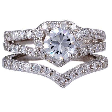 Silver Diamond Wedding Rings For Women Wedding Ring Sets