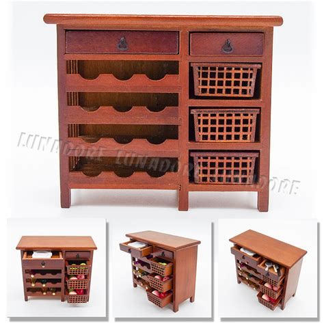 aliexpress kitchen accessories 1 12 miniature furniture wooden wine cabinet shelving with