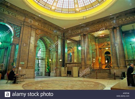 hotel foyer foyer of the palace hotel manchester stock photo royalty