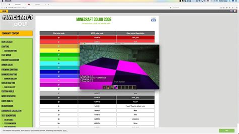youtube color code minecraft color code no mods youtube
