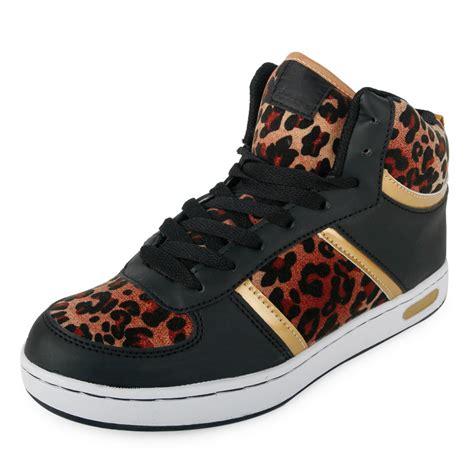 animal print sneakers womens womens animal print hi top casual trainers sneakers