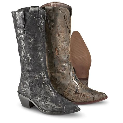 s roper 174 western pull on boots 170933 cowboy